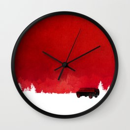 Waiting in a van Wall Clock