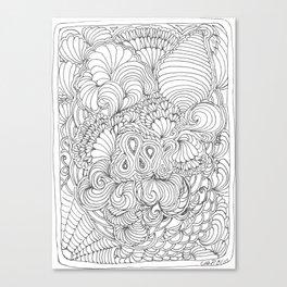 Tangling & Doodling #02 Canvas Print