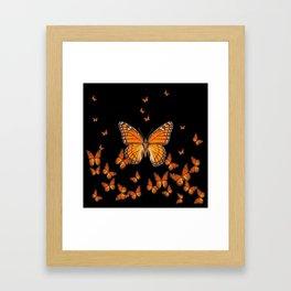 WORLD OF MONARCH BUTTERFLIES Framed Art Print