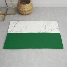 emerald green and white marble Rug