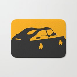 Saab 900 classic, Yellow on Black Bath Mat