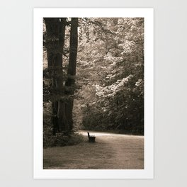 No one waiting... Art Print