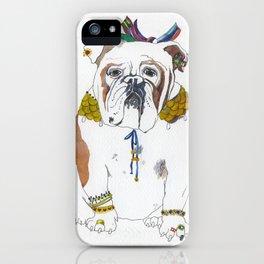 English bulldog ellegant and shy. iPhone Case