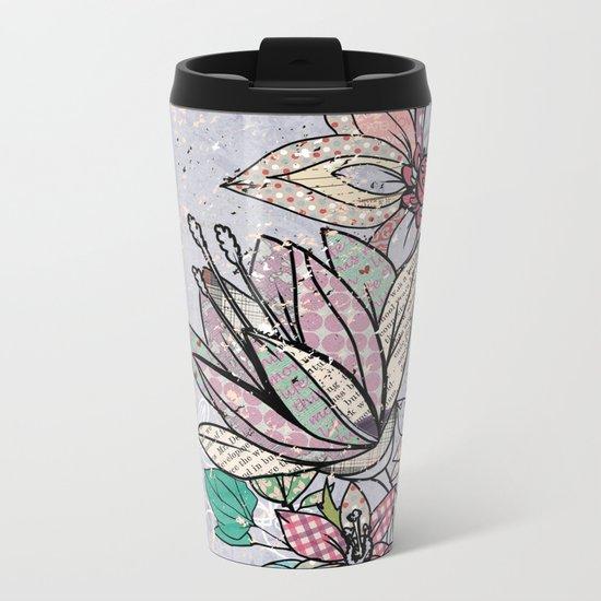 Paper Flowers #3 Metal Travel Mug