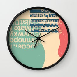 gum letter Wall Clock