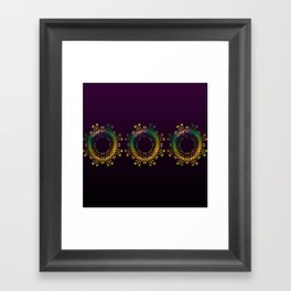 Fantasy Circle (Purple) Duvet Framed Art Print