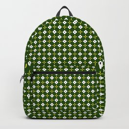 Ice Flower_Forest Green Backpack
