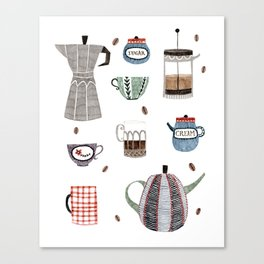 Coffee and Tea Canvas Print
