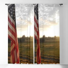 Flag at Sunrise Blackout Curtain