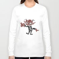 soul eater Long Sleeve T-shirts featuring little demon soul eater by Rebecca McGoran