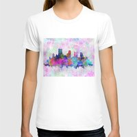 pittsburgh T-shirts featuring pittsburgh city skyline by Bekim ART