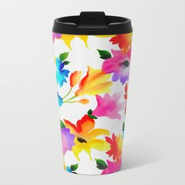 Dancing Floral Metal Travel Mug
