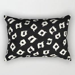 Tribal Square Dots Rectangular Pillow