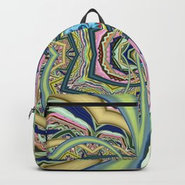 Organized chaos, abstract multicolor Backpack