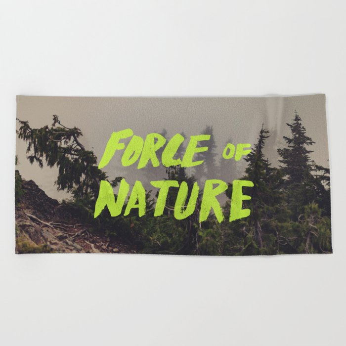 Force of Nature x Cloud Forest Beach Towel