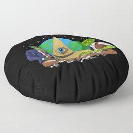 Alien Illuminati Conspiracy Floor Pillow