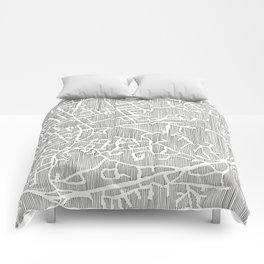 chapel hill city print Comforters
