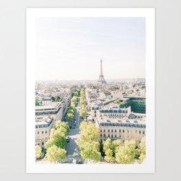 View of Paris from the Arc de Triomphe | View of Eiffel Tower, Paris, France | Travel Photography Art Print