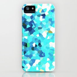 MOSAIC CYAN TEXTURE PATTERN - For IPhone - iPhone Case