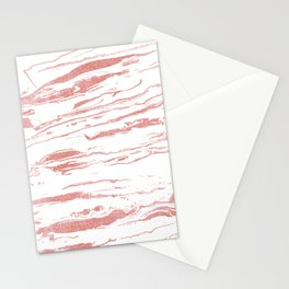 Modern abstract pink marbleized paint. Stationery Cards