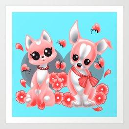 Dear Baby Boston And BooBoo Kitty  Art Print
