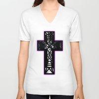 window V-neck T-shirts featuring Window. by Dan Heffer