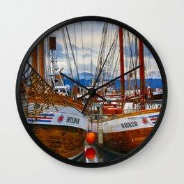 Schooners Hildur and Hauker Wall Clock
