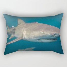 Lemon Shark Portrait Rectangular Pillow