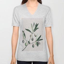 Olive Tree Branch Unisex V-Neck