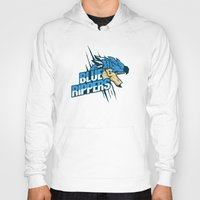 monster hunter Hoodies featuring Monster Hunter All Stars - Blue Rippers by Bleached ink
