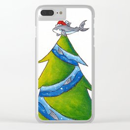 A Great White Christmas Clear iPhone Case