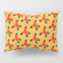 Orange Methane Molecule Pillow Sham