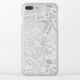 Starburst in Grey Clear iPhone Case