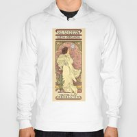 text Hoodies featuring La Dauphine Aux Alderaan by Karen Hallion Illustrations