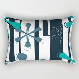 Bodoni Daisies Typography Rectangular Pillow
