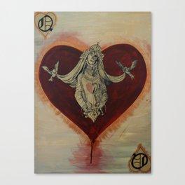Queen of Brokenhearts Canvas Print