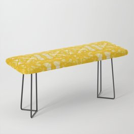 Yellow Oxford Shibori Bench