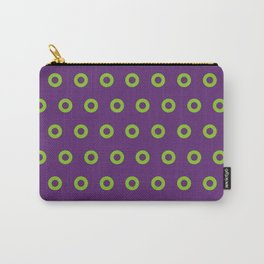 Fishman Donuts Purple and Green Small Carry-All Pouch