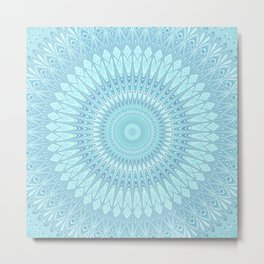 Ice Star Mandala Metal Print