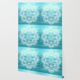 Mandala : Aqua Sunset Waters Wallpaper