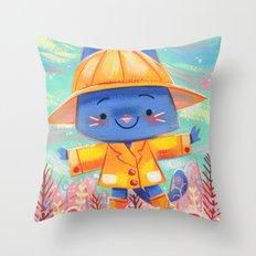 Raincoat 2 Throw Pillow