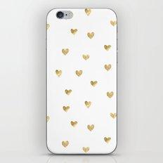Gold Heart iPhone Skin