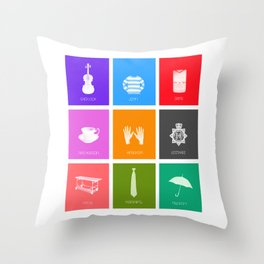 Sherlock Minimalist Poster Throw Pillow