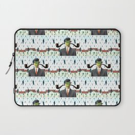 Ear Smoking Apple Guy Standing in the Man Rain Laptop Sleeve