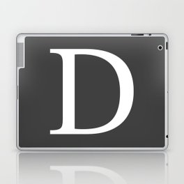 Very Dark Gray Basic Monogram D Laptop & iPad Skin