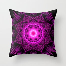 Mandala Evening Star Spiritual Zen Bohemian Hippie Yoga Mantra Meditation Throw Pillow