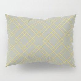 Simply Mod Diamond Mod Yellow on Retro Gray Pillow Sham