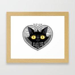 Black Cats Club Framed Art Print