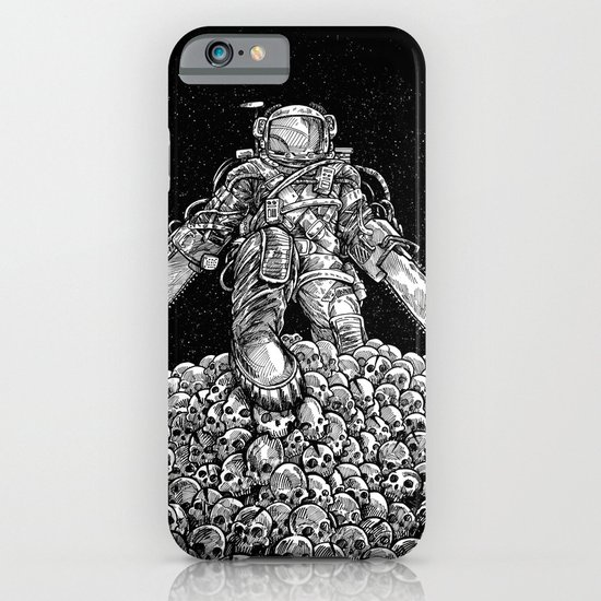 Texas Chainsaw Astronaut: New Moon iPhone & iPod Case