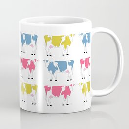 Colorful Rainbow Cows Coffee Mug